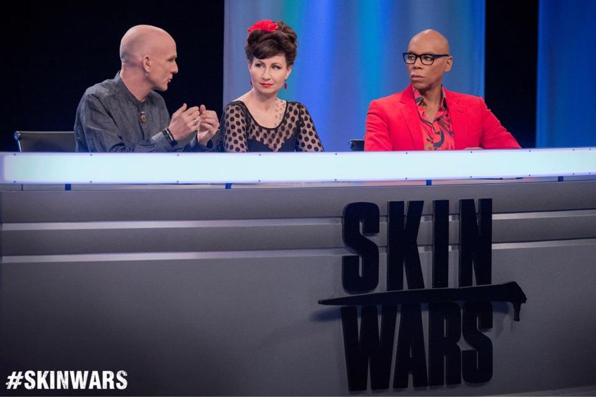 Skin-Wars-Jury-Craig-Tracy-Judges-RuPaul-GSN-Robin-Slonina