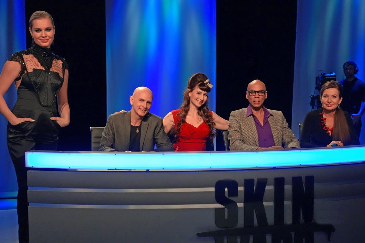 Skin-Wars-RuPaul-Rebecca-Romijn-Joanne-Gair-Robin-Slonina-Jury-Judges-GSN